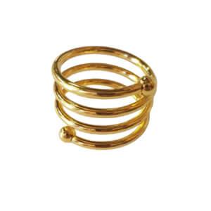 кольцо для салфеток золото