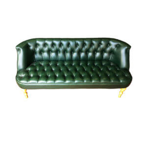 зеленый диван кожа