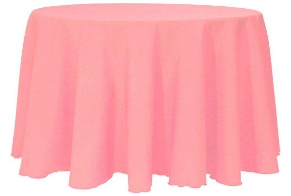 скатерть розовая круглая