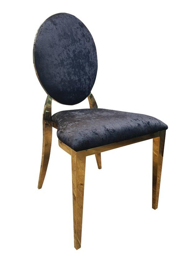 стул черный золото бархат
