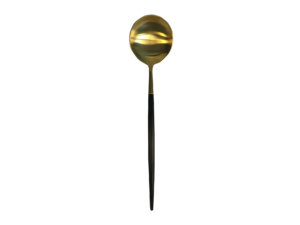 ложка черная-золото