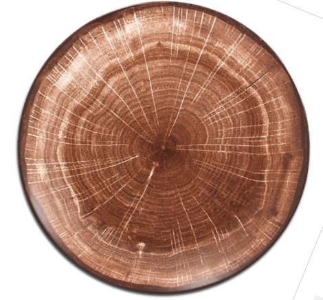 Тарелка фарфор дерево спил
