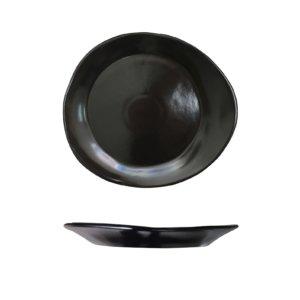 черное блюдо тарелка