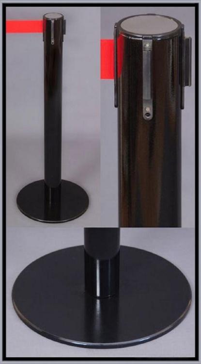 столбик пластиковый с вытяжной лентой