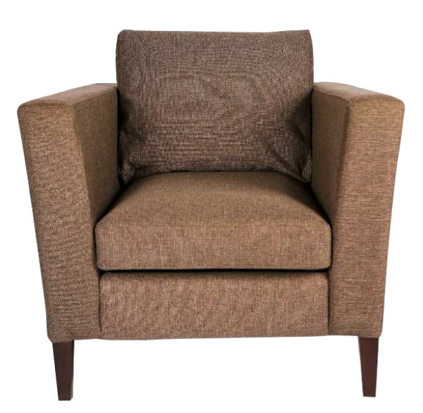 кресло серо-коричневое