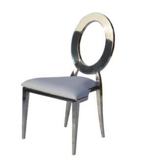 стул премиум серебро экокожа