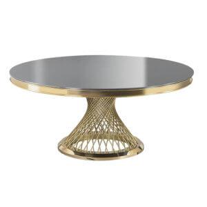 Стол премиум зеркало и золото